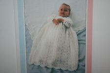 Baby Christening Robe and Shawl Knitting Pattern