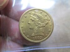 1903 5 DOLLAR LIBERTY GOLD COIN IN ABOUT UNCIRCULATED CONDITION