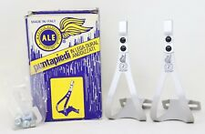 NOS ALE 97/L.D TOE CLIPS ALLOY WHITE CAMPAGNOLO SUPER RECORD QUILL PEDALS SIZE M