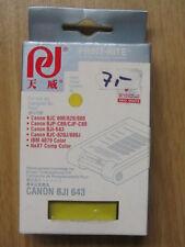 Print-Rite sustituto cartucho Yellow para Canon BJI 643, bjc 800, 820, 880
