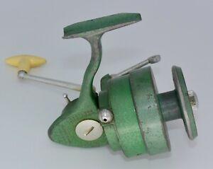 Large Vintage Centaure CARIBE Green Fishing Reel, Missing Bail Bar, Made France