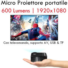 Micro Proiettore portatile a LED Mini Videoproiettore Video proiettore per Pc