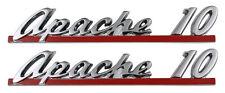 NEW Trim Parts Front Hood Emblem PAIR / FOR 1961 CHEVY APACHE 10 TRUCK / 9150