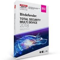 Bitdefender TOTAL Security Multi Device 2017 / 2018 * 5 PC, Geräte *  DE Lizenz