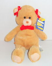 New Build a Bear Beary Merry Christmas Plush Bear Tan w/ Red Bows C19