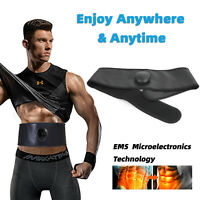EMS Abdominal Muscular Training ABS Fit Stimulator Gear Fitness Workout Cinturón