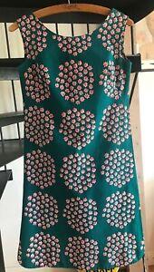 MARIMEKKO Finnland Kleid 36 S Grün Rosa Etuikleid Design Puketti Vintage Dress