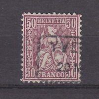"Schweiz - 1881, MiNr. 43, gestempelt, 50 C. ""Sitz. Helvetia"" - gepr. Marchand !"