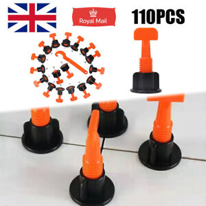110pcs Floor Wall Tile Leveler Tools Construction Recycle Tile Levelling System