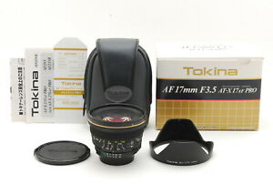 【TOP MINT IN BOX】Tokina AT-X AF 17 ASPHERICAL 17mm F/3.5 Nikon F  From JAPAN