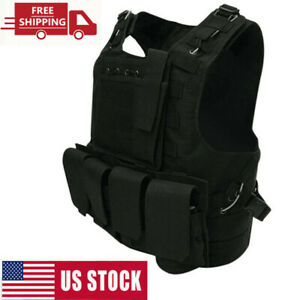Tactical Vests Paintball Military Molle Combat Assault Plate Carrier Hunting USA