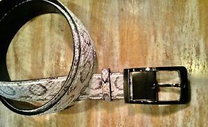 Genuine Python Snake leather Belt exotic reversible to black removable buckle