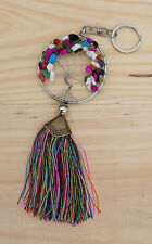 Llavero Eje de Vida Ø65mm Chakra-joya de bolso Piedra multicolor S3B 20914