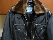 Ladies Bomber Jacket by Prada - Leather & Nylon