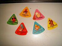 lotto 6 figurine diverse DISNEY FERRERO triangolari (etichette) vedi foto