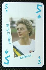 1 x playing card London 2012 Olympic Legends Betty Cuthbert Athletics 5 Spades