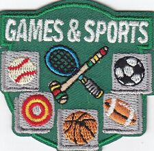 """GAMES & SPORTS""-Iron On Embroidered Applique-Tennis, Football, Soccer,Baseball"