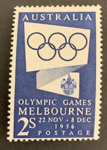 1954 PRE-DECIMAL Melbourne Olympic 2/ Blue Australian Stamp MUH No WMK