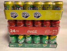 Coca Cola, Fanta Lemon & Sprite je 24 x 0,33l Dose XXL-Paket