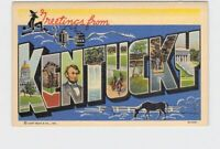 BIG LARGE LETTER VINTAGE POSTCARD GREETINGS FROM KENTUCKY #5