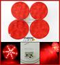 "(4) RED 4"" Round LED 7 Stop, Turn, Tail Light Optronics, Truck, Trailer FLEET"