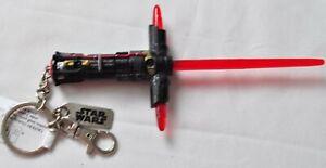 Disney Star Wars Kylo Ren Red Light up Retractable Saber 7 inch Key Chain