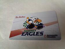 Tim Horton's - BCHL - SURREY EAGLES - Gift Card 2018 - New, Unused - FD57112