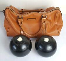 Pair of Thomas Taylor 2.10 Full Bias K Reg Crown Green Bowls & Bowling Bag
