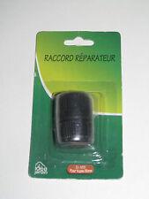 Raccord Réparateur Tuyaux d'Arrosage en Pastique Noir diamètre 15 mm