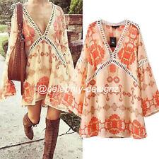 Chiffon V-Neck Shirt Dresses for Women