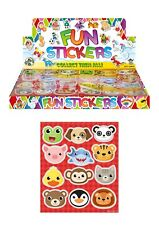 12 Sheets ANIMAL Stickers Girls Boys Party Bag Fillers Kids Craft Toys