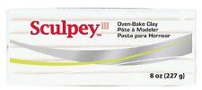 SCULPEY III - Polymer Clay - 227 gm BLOCK - WHITE