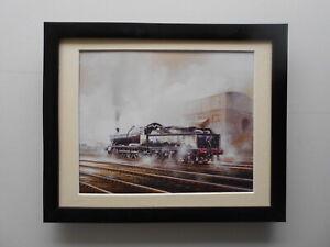 David Weston Steam Train print 'Steam At Didcot'  FRAMED
