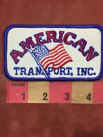 Vtg Circa 1990s AMERICAN TRANSPORT INC. Trucking Company Advertising Patch 00MH