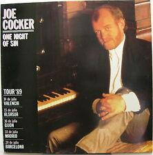 "JOE COCKER One Night Of Sin 1989 Exclusive SPAIN Concert TOUR 12"" MINTY!"