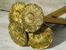 BRACKETS VINTAGE FRENCH ANTIQUE METAL GILT BRONZE ORMOLU X4  ROSETTE FLOWER HEAD