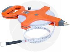50 Meters Constriction Metric Retractable Long Fiberglass Measuring Tape Reel