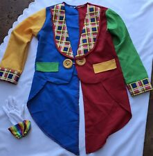 IT BOY CLOWN ON THE TOWN SZ SMALL JACKET TUXEDO TAIL CHECKERED COSTUME COSPLAY