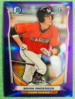"1/3! 2014 Bowman Chrome BRIAN ANDERSON ""Indigo-Mini"" Rookie Card #86! MARLINS"