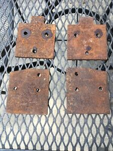 1965 Late 1966 65 66 Ford Mustang Door Hinge Mounting Plates ORIGINAL 5/16 Bolts