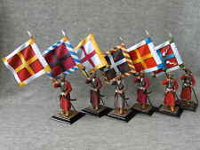 The standard-bearers of The standard-bearer in helmets. Elite tin soldiers 54 mm