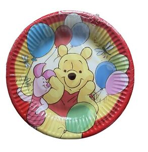 WINNIE THE POOH Happy Birthday SMALL PAPER PLATES (8)~ Birthday Party Supplies