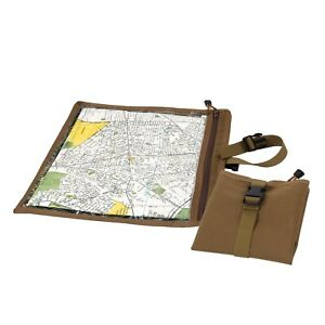 Coyote Brown Map and Document Case Weather Resistant Hiking Travel Rothco 9195