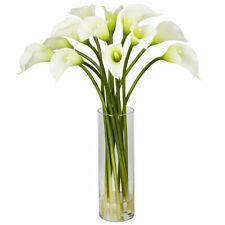Nearly Natural 1187-CR Mini Calla Lily Silk Flower Arrangement- Cream