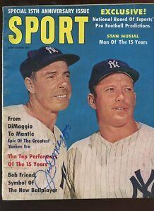 September 1961 Sport Magazine Joe DiMaggio Autographed Hologram