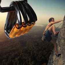 30KN D-Shape Aluminum Steel Rock Climbing Carabiner Twist/Auto Locking Rescue