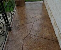 """SET of 2 pcs Concrete texture stamps mats RUBBER for printing on cement """"ROCKS"""""""