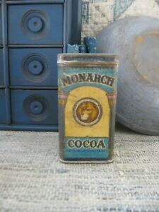 Antique Monarch Cocoa Tin Canister