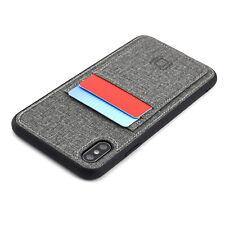 Dockem Luxe M2T iPhone XS Max Wallet Case; Slim TPU; 2 Card Slots; Metal Plate
