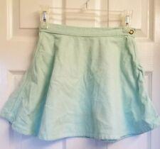 Mint Green American Apparel Corduroy Mini Skirt